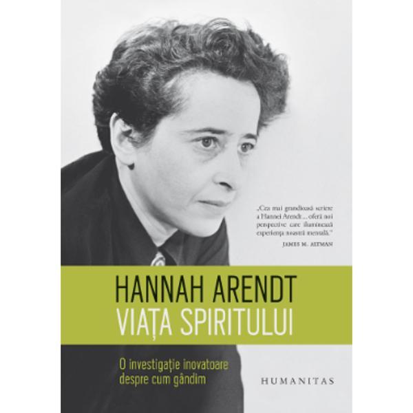 """În 1973 Hannah Arendt devenea prima femeie care conferen&539;ia la prestigioasele Gifford Lectures o serie anual&259; de conferin&539;e ini&539;iat&259; în 1888 ce urm&259;re&537;te """"s&259; promoveze &537;i s&259; r&259;spândeasc&259; studiul teologiei naturale în sensul cel mai larg al termenului"""" îmbinând &537;tiin&539;a filozofia &537;i spiritualitatea Preg&259;tindu-le pentru publicare Hannah Arendt &537;i-a extins"""