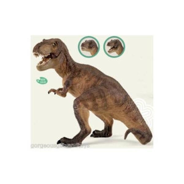 Figurina Papo - Tyrannosaurus rexJucarie educationala realizata manual excelent pictata si poate fi colectionata de catre copii sau adaugata la seturile de joaca cum ar fi animale preistoriceetcUn excelent stimulent pentru a extinde imaginatia copiilor dezvoltand multe oportunitati de joacaNu contine substante toxiceDimensiuni Lx l x h&160; 22 x 12 x17 cmVarsta 3 ani Asemeni tuturor figurinelor Papo Tyrannosaurus face parte din colectia de figurine preistorice este pictat manual