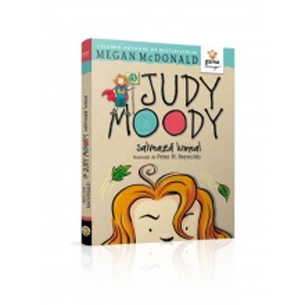 """Când afl&259; c&259; p&259;durea tropical&259; e în pericol lui Judy îi vine cheful s&259; """"repare"""" planeta Cineva trebuie s&259; salveze lumea &537;i ea e persoana potrivit&259;Aventurile lui Judy Moodyvor reu&537;i s&259; te bage &537;i pe tine într-o stare de spirit foarte Judy Moody-easc&259;"""