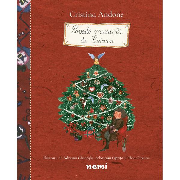 Cristina Andone autoarea seriei &132;Povesti din Padurea Muzicala&148; reinvie in aceasta carte magia povestilor de Craciun cu trei povesti minunate &132;Uvertura fulgilor curiosi&148; &132;Cand vine Mosul&148; si &132;Dimineata de Craciun&148;Ca intotdeauna pove&537;tile isi propun sa-i familiarizeze pe cei mici cu universul muzicii clasice imbinand frumusetea textului cu armonia sunetelorColectia  &132;Povesti din Padurea Muzicala&148;  reprezinta o serie de povesti