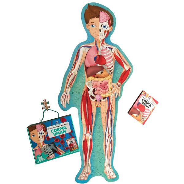 Exploreaz&259; corpul uman &537;i înva&539;&259; totul despre el Descoper&259; tot ce trebuie s&259; &537;tii despre schelet mu&537;chi sistemele circulator respirator &537;i digestiv &537;i despre creier  Specifica&539;ii Pagini 32  Puzzle 205 piese M&259;rimi Cutie 27 x 23 Copert&259; Cutie