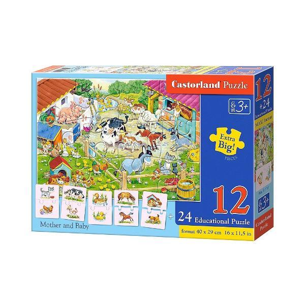 Seria de puzzle-uri educative de la Castorland este perfecta pentru copiii miciAceste produse au fost dezvoltate pentru a extinde capacitatile de asociere si inteligenta ale copiilorCu acest puzzle invatam sa asociemDimensiunea puzzle-ului asamblat este de 40 x 29 cmAtentie p