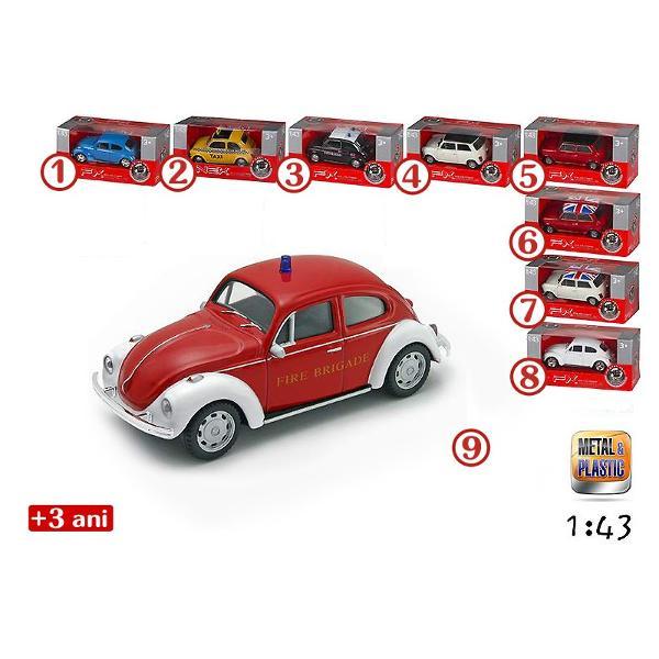 CB-Masinuta&160; diecast - disponibila in 9 modele diferiteCB-Masinutele diecast cu licenta&160;sunt&160;jucarii pentru baieti ce imita cele mai mici detalii masinile pe care le reproduc Modelele elegante confera unicitate jucariilor printre jucariile de gen De greutate redusa acestea pot aduce ore nelimitate de amuzament copiilor pasionati de vitezaDimensiune ambalaj 13 x 6 x 65 cmVarsta 3 ani