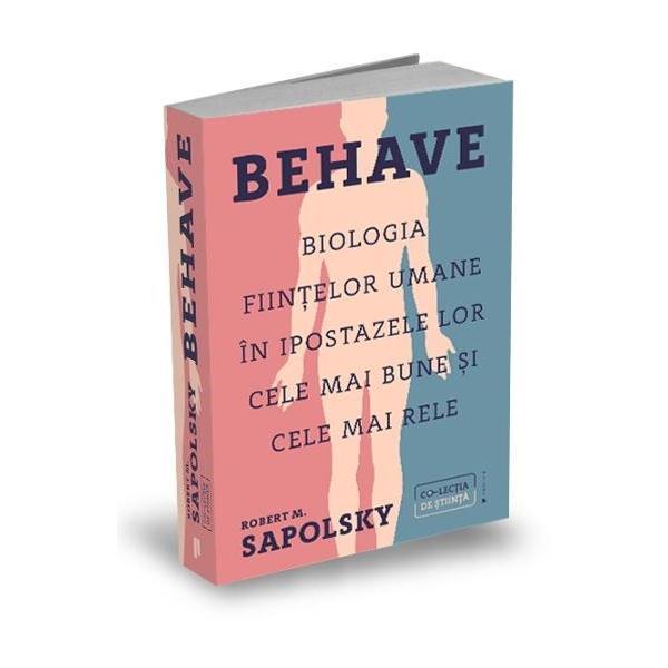 De ce facem lucrurile pe care le facemDupa o elaborare de peste un deceniu aceasta carte revolutionara este incercarea iesita din comun a lui Robert Sapolsky de a raspunde la aceasta intrebare atat de complet pe cat numai el era in stare privind chestiunea din toate unghiurile Prima categorie de explicatii se plaseaza in domeniul neurobiologiei Se initiaza un comportament – fie acesta un exemplu in care umanitatea se infatiseaza