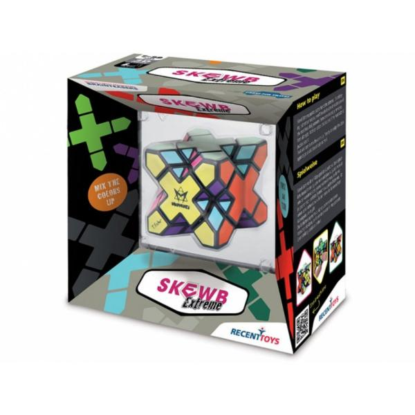 Joc de inteligenta Skewb extreme&160;&160;Skewb Extreme este o&160; provocare dar nu at&226;t de grea incat sa nu il puteti rezolva &536;i este unul dintre cele mai frumoase forme geometrice create vreodata simetrice din toate unghiurile Cu zece culori este de asemenea unul dintre puzzle-uri cele mai colorate din jur