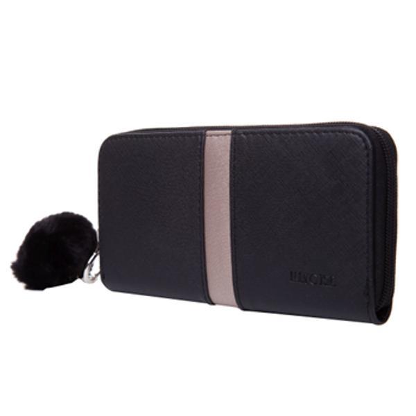 Portofel de dama inchis cu fermoar La interior portofelul are 3 compartimente si un buzunar cu fermoar pentru monedeTot la interior portofelul are 8 buzunare speciale pentru carduri carti de vizita etc