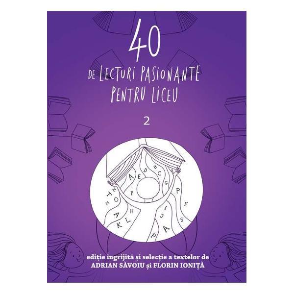 Antologia de fa&539;&259; se adreseaz&259; tuturor liceenilor dar mai cu seam&259; celor din clasa a X-a &537;i propune o diversitate de texte &537;i de autori dep&259;&537;ind limitele programei &537;colare - axat&259; aproape exclusiv pe opere din literatura român&259; - prin deschiderea spre valori ale literaturii universale Volumul cuprinde patru sec&539;iuni proz&259; poezie dramaturgie &537;i o noutate memorialistic&259; Adolescen&539;ii se vor putea