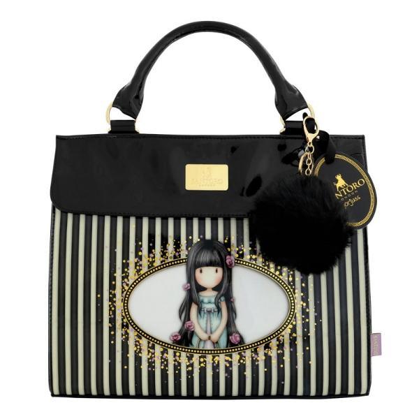 Gorjuss Geanta mare de umar - RosebudStilata si sofisticata aceasta geanta este un acesoriu pretios si modul perfect pentru a-ti tine bunurileDimensiuni aproximative 33cm x 28cm x 14cm