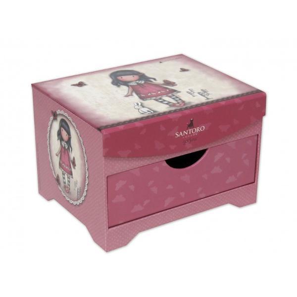 Caseta bijuterii Gorjuss - Time To Fly o adevarata bijuterie pentru iubitoarele colectiei Gorjuss Alege azi cele mai frumoase modele de cutii bijuterii cu fetitele Gorjuss pentru tine sau printesa ta&160;