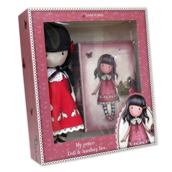 Set Gorjuss Papusacutie bijuterii - Time to Fly&160;un set cadou special pentru o mica domnisoara Alege azi cele mai frumoase cadouri din colectia Gorjuss&160;