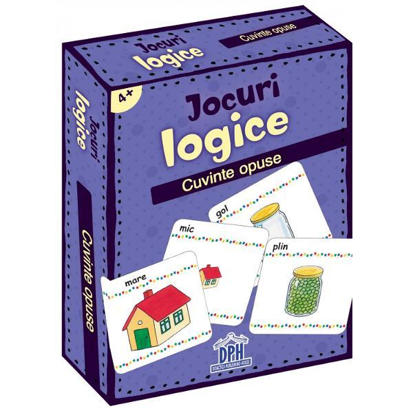 Un joc superdistractivCare este opusul meu Formarea perechilor de cuvinte cu sens opusAntreneaz&259; concentrarea &537;i dezvolt&259; rapiditatea &238;n g&226;ndire4 ani  2-4 juc&259;tori Specifica&539;iiPagini 48 jetoaneM&259;rimi Cutie - 9 x 125 cm Jetoane - 58 x 88 cmCopert&259; Cutie
