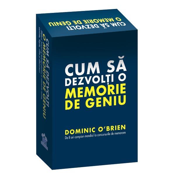 De 8 ori campion mondial la concursurile de memorare Dominic O&39;Brien ofer&259; un sistem complet &537;i interactiv de memorare cu jetoane o hart&259; a c&259;l&259;toriei memoriei precum &537;i o carte introductiv&259; foarte util&259; Antreneaz&259;-&539;i mintea &537;i vezi cum puterea sa de stocare de memorare &537;i de rememorare se îmbun&259;t&259;&539;e&537;te pe zi ce trece Dominic O&39;Brien este renumit pentru caracteristicile fenomenale
