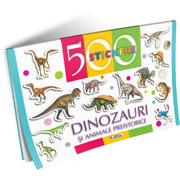 500 Stickere - Dinozauri si animale preistorice