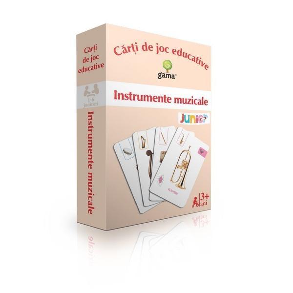 Pachetul con&539;ine·48 de c&259;r&539;i de joccu instrumente muzicale; ·1 cardcu aranjarea instrumentelor în orchestr&259;; ·1 cardcu personajul DirijorScopul jocului este cunoa&537;terea instrumentelor muzicale Fiecare carte de joc con&539;ine numele instrumentului muzical &537;i o pictogram&259; care arat&259; categoria din care face parte
