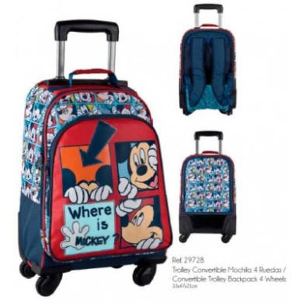 Simte-te bine la scoala cat calatoriile tale cu personajul tau preferat&160;Mickey care se regaseste pe acest &160;troler convertibil