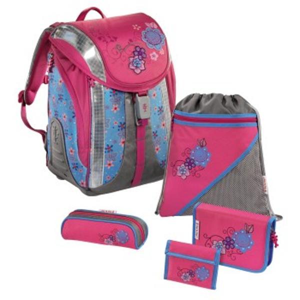 Set scolar alcatuit din 5 accesorii- ghiozdan;- penar cu accesorii;- penar mic pentru creioane;- sac pentru pantofi- portofel