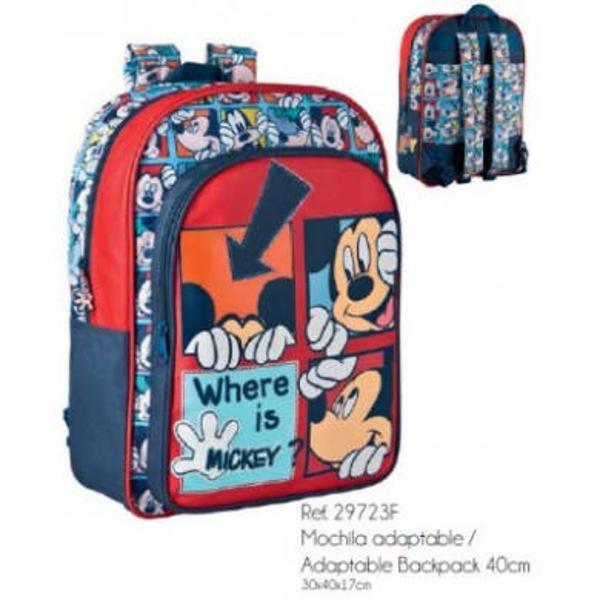 Ghiozdanul cu personajul tau preferat Mickey te insoteste la scoala dar si in micile excursii&160;