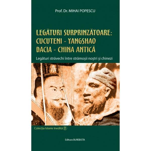Fundamentat pe dovezi arheologice &537;i izvoare istorice demersul &537;tiin&539;ific al eruditului profesor Mihai Popescu concretizat în aceast&259; lucrare de popularizare a istoriei este unul care ne va pune pe gânduri ne va incita &537;i ne va schimba viziunea asupra leg&259;turilor preistorice &537;i antice dintre str&259;mo&537;ii chinezilor &537;i ai românilor
