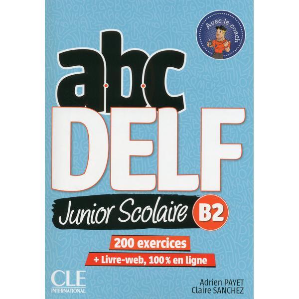 Ouvrage de pr&233;paration aux examens du DELF scolaire B2 dans la collection ABCDelf m&233;thode de fran&231;ais langue &233;trang&232;re FLE destin&233; &224; un public de jeunes adolescentsABC DELFJunior Scolaire B2 cest une pr&233;paration compl&232;te et efficace aux &233;preuves du DELF junior ou scolaire B2ABC DELF Junior Scolaire B2 propose un parcours permettant daborder les &233;preuves avec les meilleures chances de r&233;ussitepr&233;sentation et