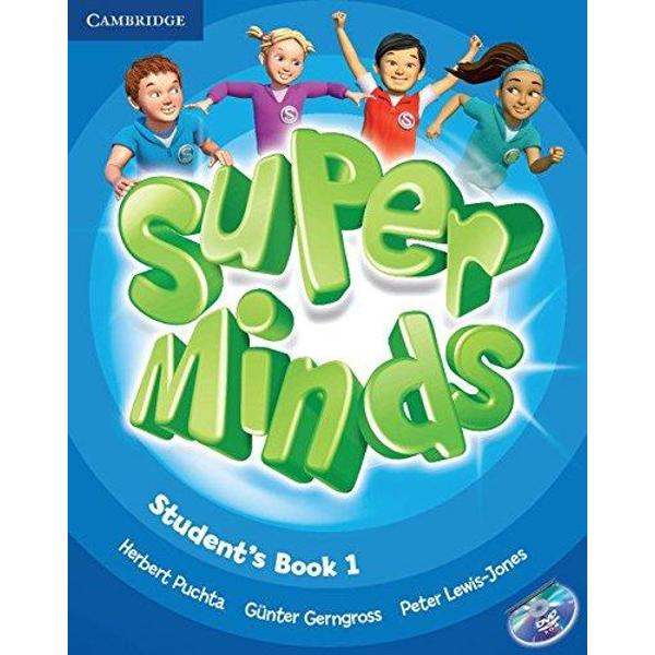 Super Minds is a seven-level course for young learners Super Minds from a highly experienced author team enhances your students thinking skills improving their memory along with their language skills This Level 1 Students Book includes visualisation exercises to develop creativity cross-curricular thinking with fascinating English for school sections and lively stories that explore social values The fabulous DVD-ROM features animated stories interactive games and activities including