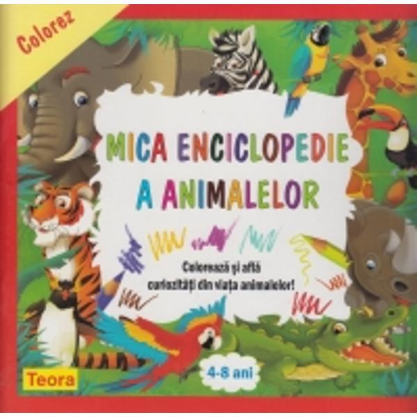 Instructiva si amuzanta Colorez mica enciclopedie a animalelor este o carte 2 in 1 o enciclopedie si o carte de coloratIn carte cei mici vor gasi-fotografii inedite-curiozitati din viata animalelor-desene de colorat cu modele de colorare