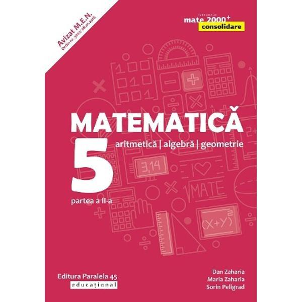Avizat MEN conform OM nr 30228012018Seria de lucr&259;ri MATE 2000 CONSOLIDARE destinat&259;&160;claselor de gimnaziu respect&259;&160;toate cerin&539;ele programei &537;colare actuale de matematic&259;&160;referitoare la competen&539;e generale competen&539;e specifice &537;i con&539;inuturi oferind sugestii metodologice dintre cele mai atractiveAstfel pentru fiecare capitol din programa sunt