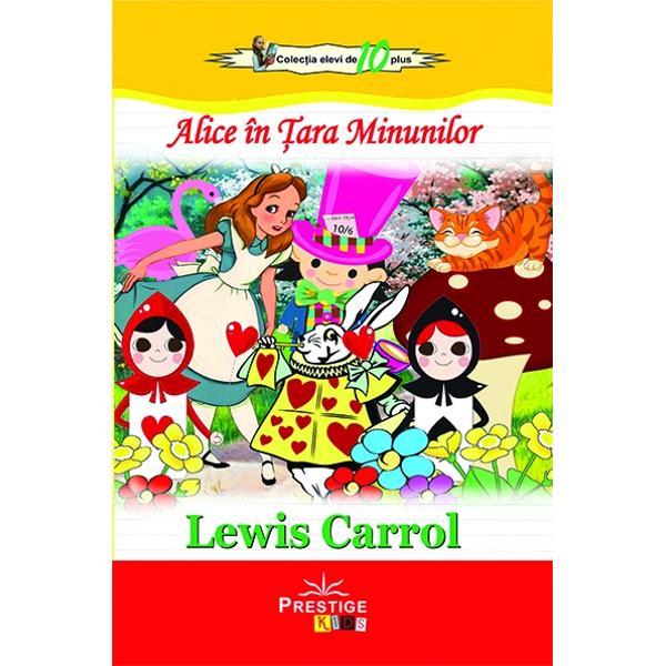 """Alice coboara in vizuina iepurasuluiIncepuse a se plictisi de–a binelea Alice de cand tot sedea pe mal langa sora ei si n–avea ce face Incercase de vreo doua oua ori sa se uite in cartea pe care o citea sora–sa dar n–avea nici un haz nici poze nici dialog """"Ce rost o fi avand o carte fara poze si fara dialog"""" se intreba AliceSi chibzuia in gandul ei cat se putea chibzui pe o zi de arsita ca asta care te facea sa tot picotesti si"""
