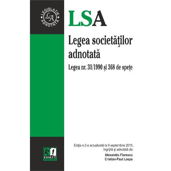 Legea societatilor adnotata editia a II a