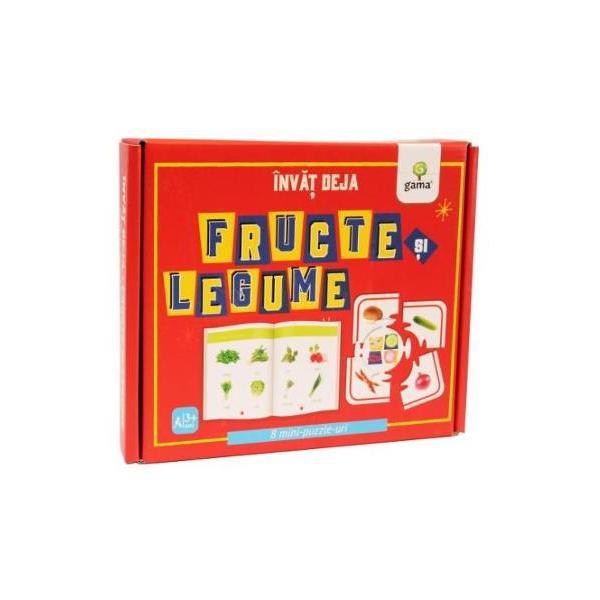 Înv&259;&539; deja fructe &537;i legumedezvolt&259; cuno&537;tin&539;ele despre fructe &537;i legume coordonarea mân&259;-ochi motricitatea fin&259; gândirea logic&259; abilitatea de a face asocieriCutia con&539;ine carte de 16 pagini &537;i 8 puzzle-uri cu fructe &537;i legume