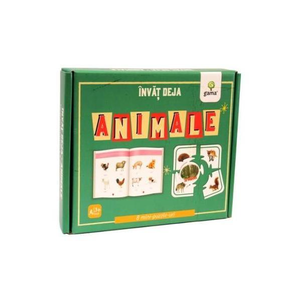 Înv&259;&539; deja animaledezvolt&259; cuno&537;tin&539;ele despre animale &537;i habitatele lor coordonarea mân&259;-ochi motricitatea fin&259; gândirea logic&259; abilitatea de a face asocieriCutia con&539;ine carte de 16 pagini &537;i 8 puzzle-uri cu animale din opt habitate diferite
