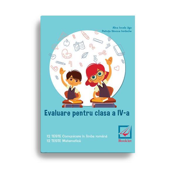 Evaluare pentru clasa a IV-a TESTE este un instrument de lucru foarte util elevilor de clasa a IV-a care se preg&259;tesc pentru sus&539;inerea examenului de Evaluare Na&539;ional&259;Con&355;ine 12 teste de comunicare în limba român&259; &537;i 12 teste de matematic&259;Testele de comunicare în limba român&259; evalueaz&259; competen&539;ele de receptare a mesajului scris pe baza unor texte-suport literare &537;i nonliterare precum &537;i