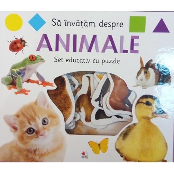 Cartea cu imagini viu colorate &537;i piesele mari de puzzle care trebuie potrivite la locurile lor &238;i vor ajuta pe micu&539;i s&259;-&537;i dezvolte vocabularul &537;i capacit&259;&539;ile motrice