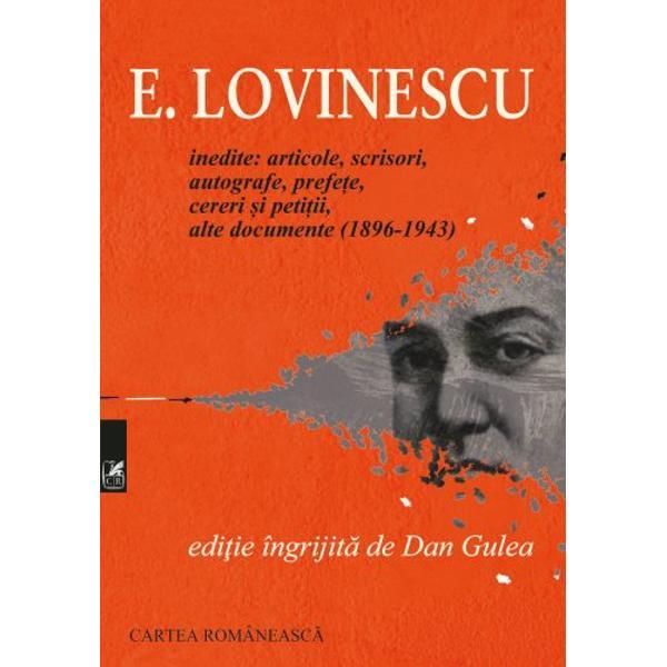 Al&259;turi de cele 80 de scrisori inedite ale lui E Lovinescu c&259;tre Hortensia Papadat-Bengescu 1919-1943 cuprinzând lecturi succesive ale ciclului Hallipilor dar &351;i ale romanelor &351;i c&259;r&355;ilor faimoase ale criticului edi&355;ia de fa&355;&259; mai este alc&259;tuit&259; &351;i din alte inedite – scrisori adresate lui Camil Petrescu sau Margaretei Bebs Delavrancea – texte din perioada de început inclusiv primul articol de la