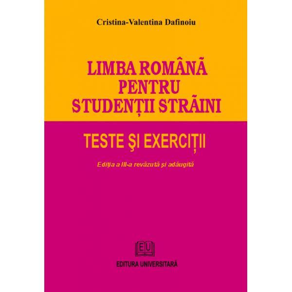 Lucrarea se adreseaz&259; în primul rând studen&355;ilor str&259;ini din anul preg&259;titor care vin în România s&259; urmeze cursurile universit&259;&355;ilor române&351;ti la diferite specializ&259;ri în limba român&259; În acela&351;i timp lucrarea este deosebit de util&259; tuturor str&259;inilor &351;i în general celor care sunt interesa&355;i s&259;-&351;i evalueze &351;i sau