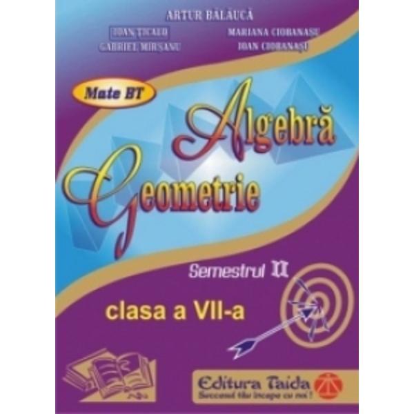 Algebra geometrie clasa a VII a semestrul II
