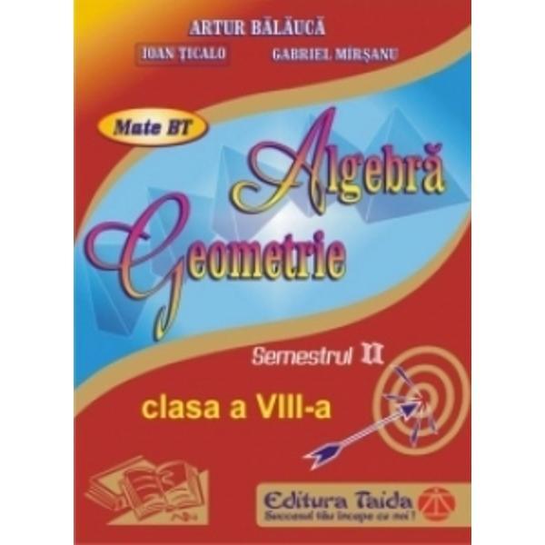 Algebra geometrie clasa a VIII a semestrul I