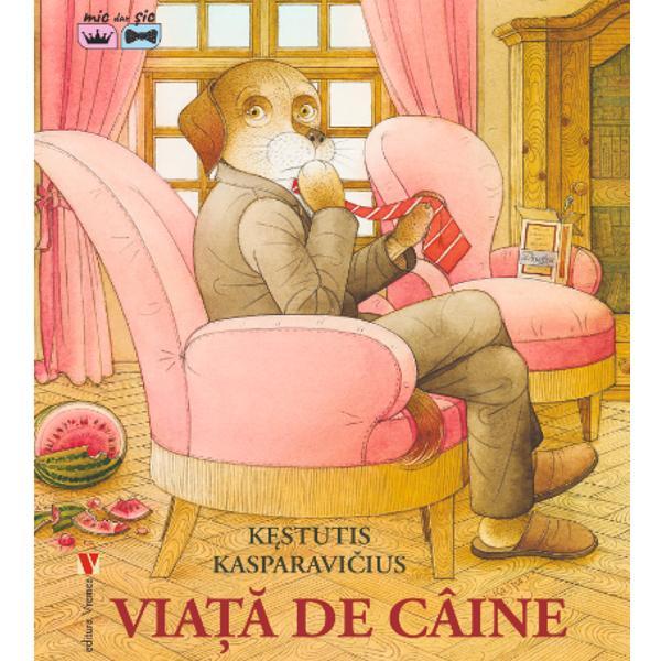 Aceast&259; c&259;rticic&259; pentru copii este al doilea titlu pe care autorul Kestutis Kasparavicius îl public&259; în România «Via&539;&259; de câine» este o poveste despre un câine &537;i st&259;pânul lui H&259;m&259;il&259; &537;i domnul H&259;m&259;escu care decid s&259; fac&259; schimb de vie&539;iH&259;m&259;il&259; se mut&259; în casa st&259;pânului &537;i trebuie s&259; mearg&259;