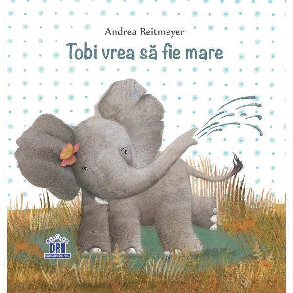 Tobi micul elefant î&537;i dore&537;te foarte mult s&259; fie deja mare &537;i adult La fel de mare ca mama ca tata &537;i ca to&539;i ceilal&539;i elefan&539;i &536;i pentru c&259; nu mai vrea s&259; fie cel mai mic din turm&259; el decide s&259;-&537;i caute o nou&259; familie Ar putea s&259; se ascund&259; cu leii în tufi&537;uri Împreun&259; cu liliecii ar putea sta atârnat de crengile copacilor iar cu pe&537;tii s-ar scufunda