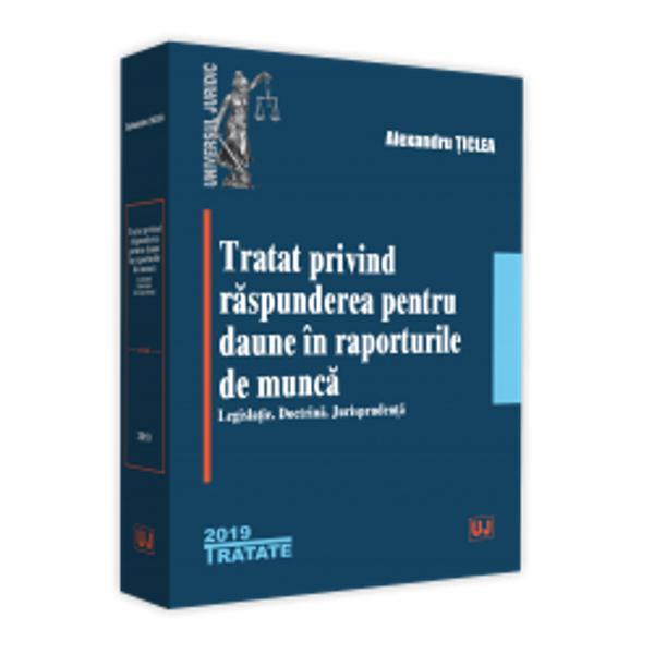 """In con&539;inutul lucrarii de fa&539;a componenta a """"Tratatului de dreptul muncii"""" sunt expuse &537;i analizate metodic &537;i temeinic principiile &537;i aspectele fundamentale esen&539;iale &537;i relevante ale raspunderii pentru daune in raporturile de munca in varietatea lor atat din perspectiva normativa cat &537;i din cea doctrinara &537;i jurispruden&539;ialaOricare din par&539;ile raporturilor juridice de muncade serviciu angajatul ca"""
