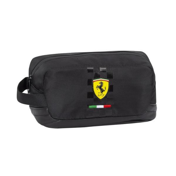 Geanta accesorii Ferrari neagra&160;un produs exceptional pentru fanii Ferarri si Formula 1 Alege azi produse unice exceptionale pentru cei dragi tie Marca Ferarri este foarte cunoscuta la nivel international