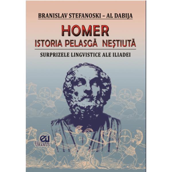 Cartea lui Branislav Stefanosky – Al Dabija este una din cele mai savante &537;i îndr&259;zne&539;e cercet&259;ri &537;tiin&539;ifice cu privire la Antichitatea european&259; Din punct de vedere istoric aceasta n&259;ruie mitul apartenen&539;ei grece&537;ti a operei homerice iar sub aspect lingvistic demonstreaz&259; anterioritatea limbilor trunchiului geto-pelasgic fa&539;&259; de limba latin&259; Ambele componente pun în cauz&259; în mod dramatic