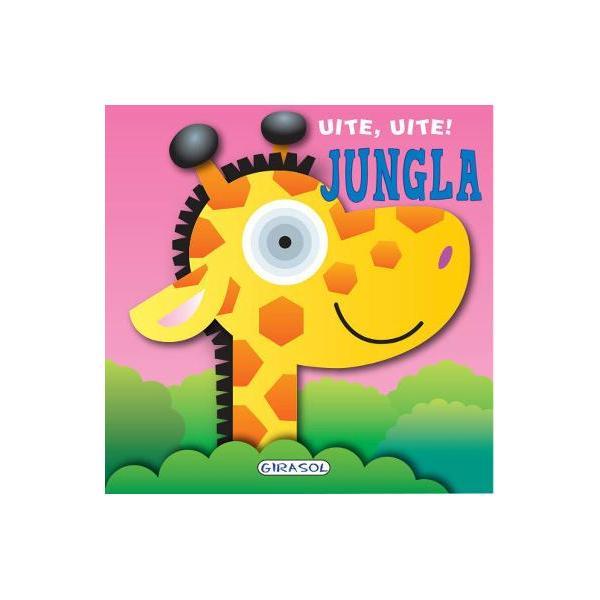 O carte cu pagini cartonate ideala pentru cele mai mici manuteCei mici vor decoperi primele informatii despre animalele din jungla in texte scurte cu scris de tipar si pagini viu colorate