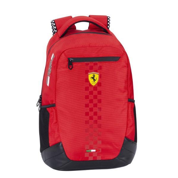 Rucsac Ferrari Racing rosu 40 cm&160;- poate fi un cadou inedit pentru prezenta masculina din viata ta Acesta este un produs exceptional pentru fanii Ferarri si Formula 1 Marca Ferarri este foarte cunoscuta la nivel international