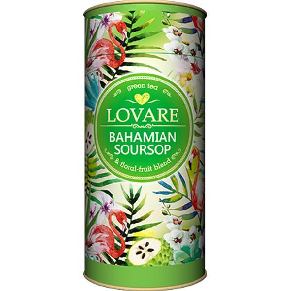 Bahamian soursop Amestec de ceai verde soursop graviola &537;i petale de flori Frunze de ceai verde chinezesc; buc&259;&539;ele de soursop graviola petale de flori de g&259;lbenele arom&259; natural&259; de soursop Are 15 filtre pentru preparare infuzie incluseCutie 80 g