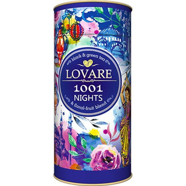 """1001 Nights Amestec de ceai negru ceai verde plante &537;i fructe Frunze de ceai negru de Ceylon; Frunze de ceai verde chinezesc """"Sencha""""; mere petale de flori alb&259;strele g&259;lbenele &537;ofr&259;nel boboci &537;i petale de trandafir chinezesc arom&259; natural&259; de struguri Are 15 filtre pentru preparare infuzie incluseCutie 80g"""
