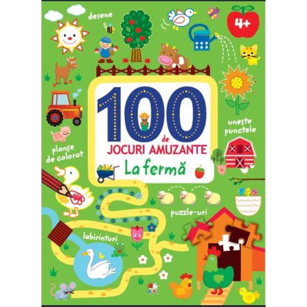 Labirinturi puzzle-uri activit&259;&539;i cu numere &537;i multe alteleCele 100 DE JOCURI din aceast&259; carte &238;i vor distra ore &238;ntregi pe copiii interesa&539;i de provoc&259;ri dar &537;i de via&539;a la ferm&259;