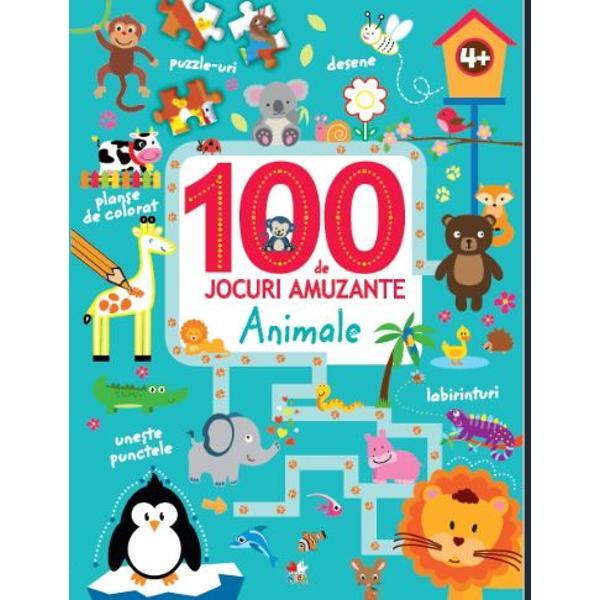 Labirinturi puzzle-uri activit&259;&539;i cu numere &537;i multe alteleCele 100 DE JOCURI din aceast&259; carte &238;i vor distra ore &238;ntregi pe copiii c&259;rora le plac provoc&259;rile &537;i animalele