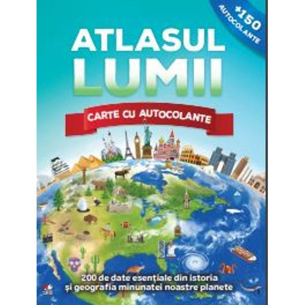 C&259;l&259;tore&537;te &238;n jurul lumii prin intermediul acestui atlas interactiv cu autocolanteDescoper&259; animale uimitoare monumente extraordinare fenomene naturale spectaculoase &537;i multe altele pe m&259;sur&259; ce explorezi minunile naturii &537;i ale civiliza&539;iei umane din lumea &238;ntreag&259;Vei g&259;si r&259;spunsuri la o mul&539;ime de &238;ntreb&259;ri cum ar fiCe cascad&259; din America de Nord ar putea umple peste un milion de c&259;zi de