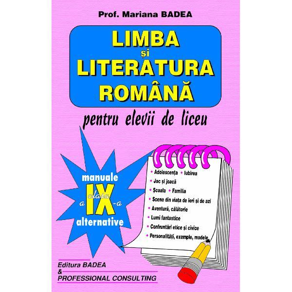 Limba si literatura romana clasa a IX-a