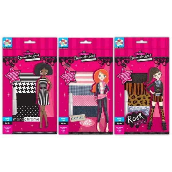 Set creativ Croieste propria gama moda 3 modele asortateSetul contine 4 bucati material textil lipiciDimensiuni 235x15x25cmVarsta 4Pretbuc&160;